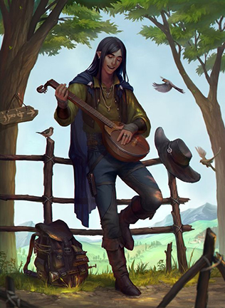 Minstrel, by sagasketchbook, at DeviantArt.